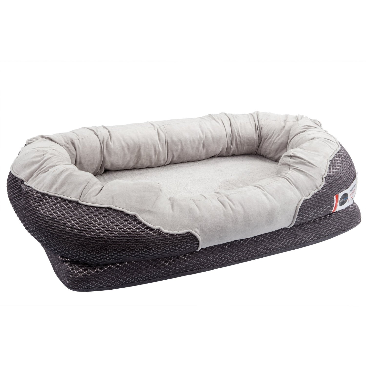 BarksBar Gray Orthopedic Dog Bed Review by www.puppyurl.com