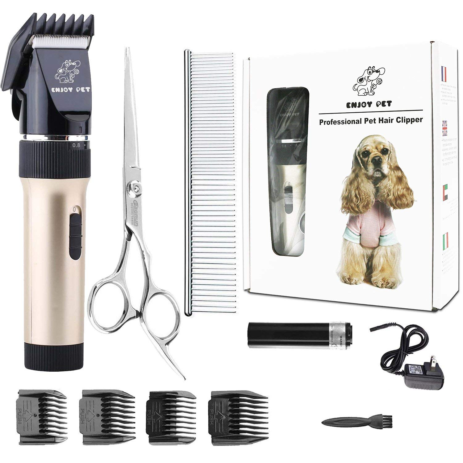 ENJOY PET Best Dog Grooming Clippers Kit Review by www.puppyurl.com