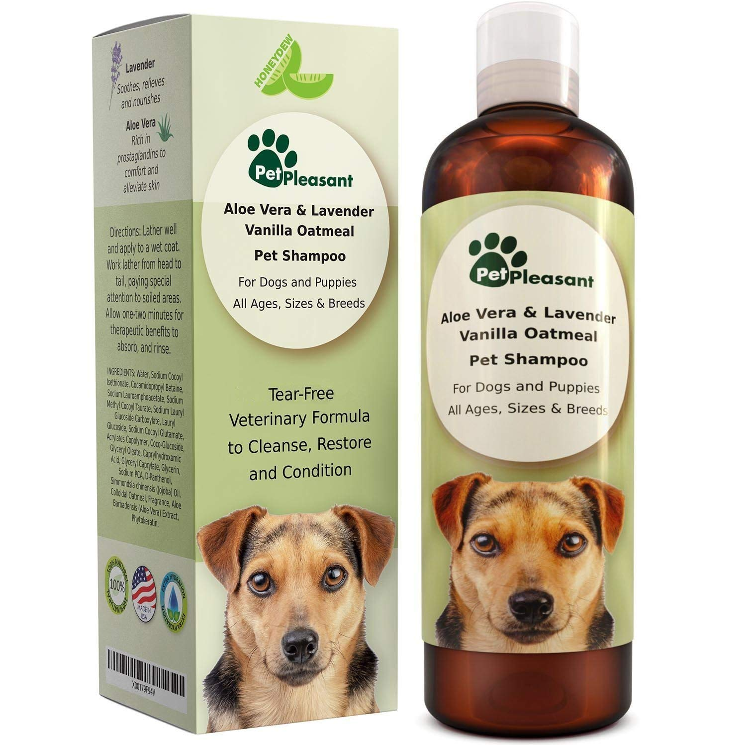 Honeydew Vanilla Oatmeal Dog Shampoo with Aloe Vera Review by www.puppyurl.com