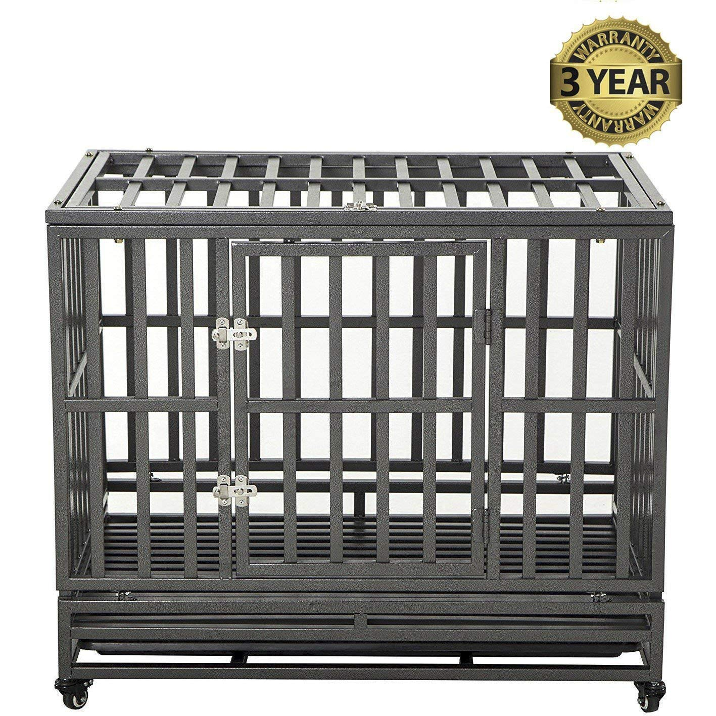 LUCKUP Heavy Duty Dog Crate Review by www.puppyurl.com