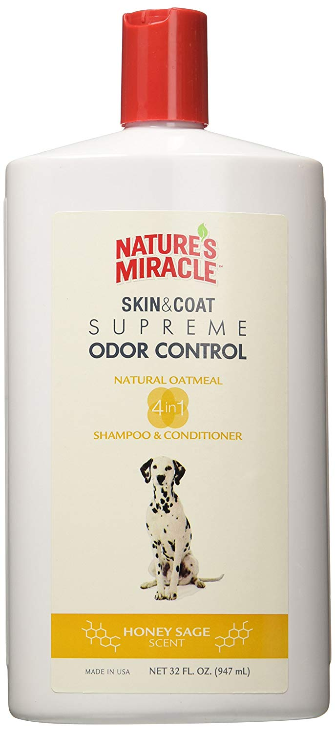Nature's Miracle Supreme Odor Control Natural Oatmeal Dog Shampoo for Smell Review by www.puppyurl.com