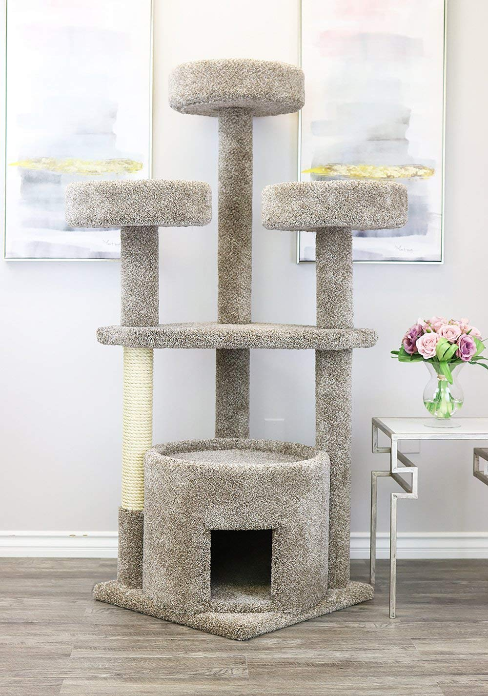 Neutral Main Coon Cat Tree for Large Cats www.puppyurl.com