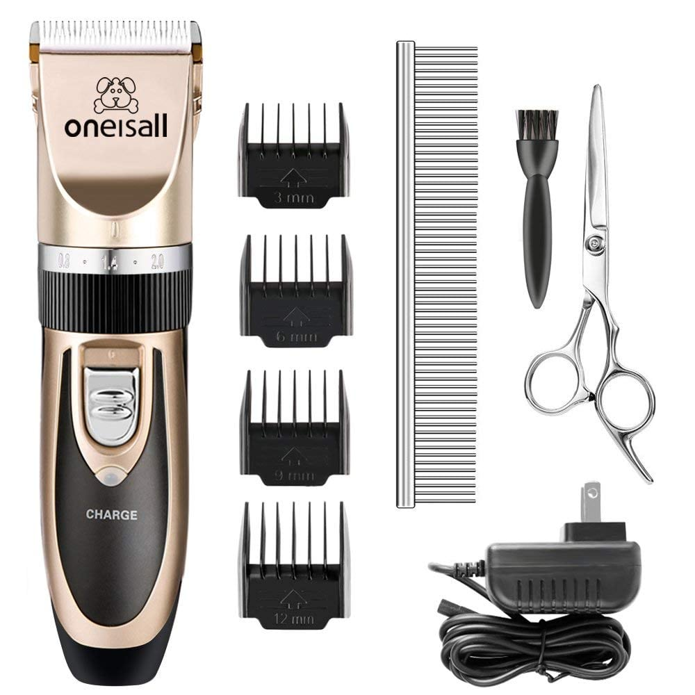 Oneisall Best Dog Grooming Clippers Kit Review by www.puppyurl.com