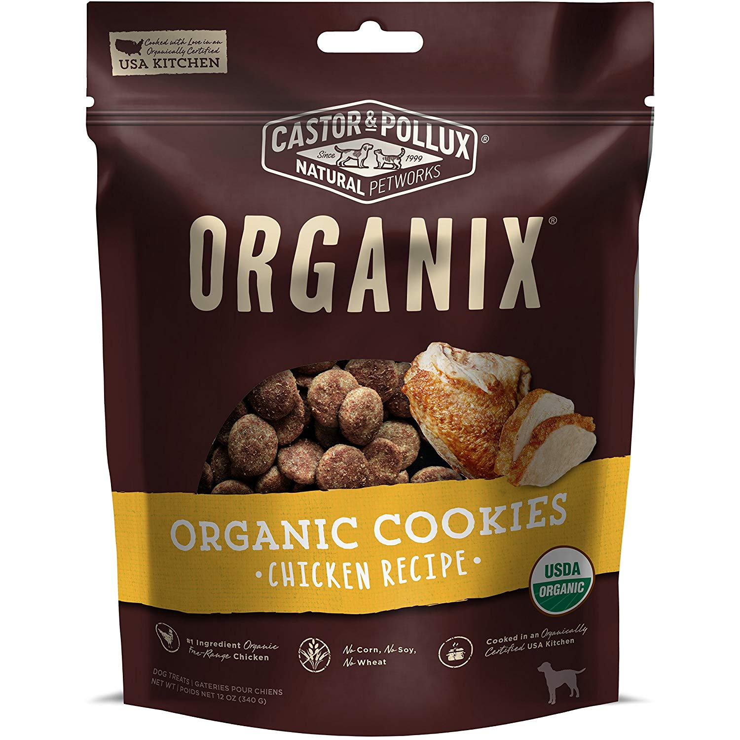 Organix Castor & Pollux Chicken Flavored Dog Cookies Reviews by www.puppyurl.com