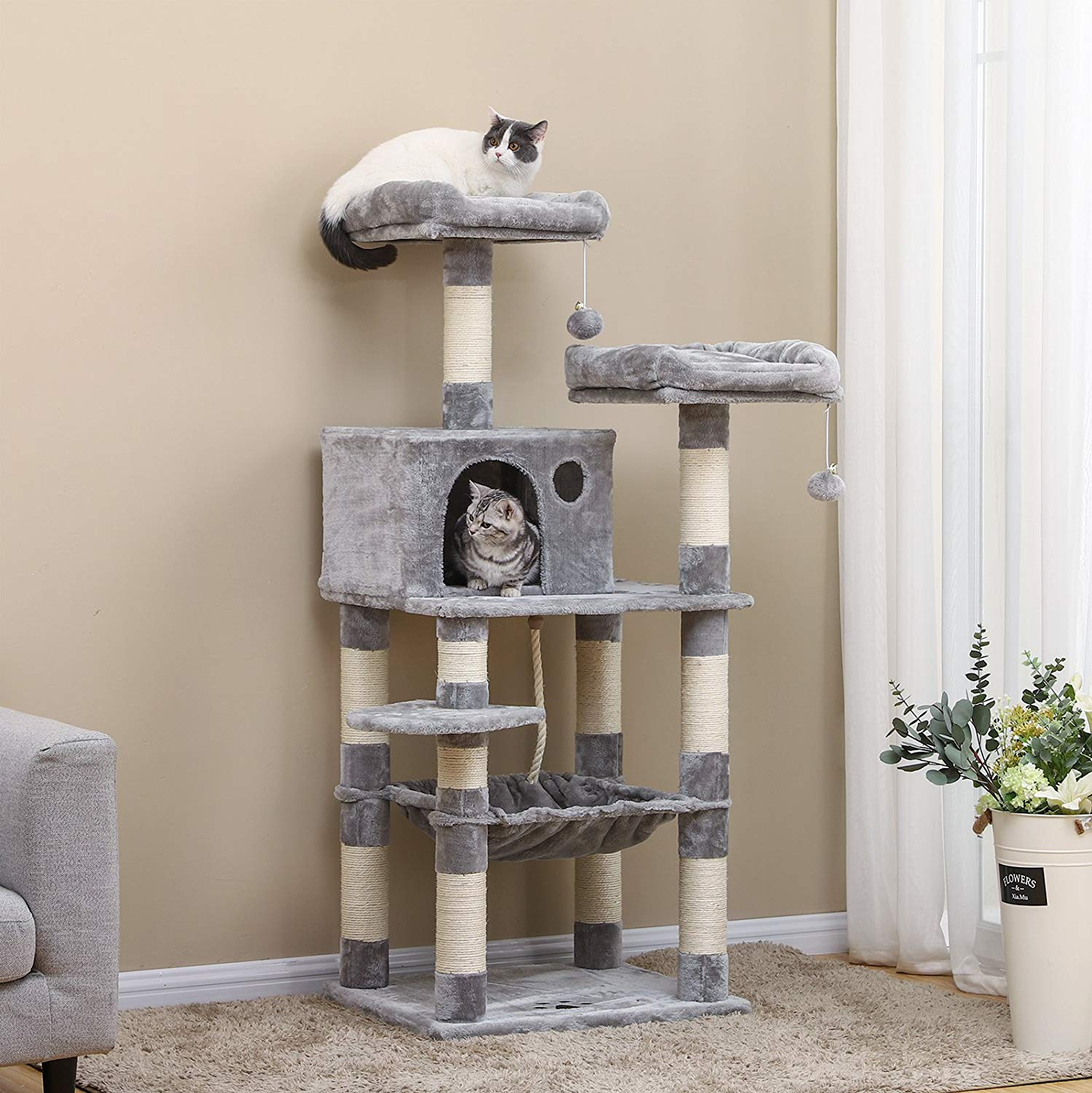 SONGMICS 58 Cat Tree For Large Cats review by www.puppyurl.com